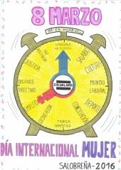 'Un reloj para la igualdad', gana el premio del concurso de carteles para el 8 de marzo