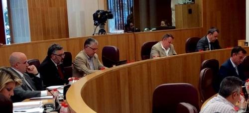 El diputado de Ciudadanos Francisco Rodríguez en el Pleno de Diputación