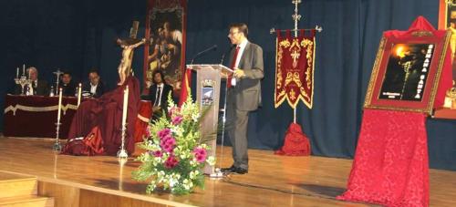 Sánchez Alaminos dio un bello y sentido pregón de la Semana Santa de La Herradura