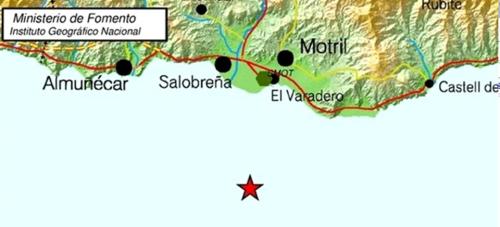 Un terremoto de intensidad 4 se deja sentir en la Costa Tropical