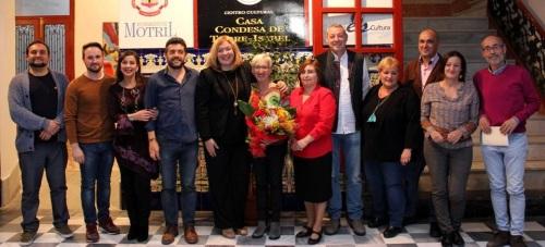 La actriz motrileña Paca Barrera pregona brillantemente la XXXV edición de la Feria del Libro