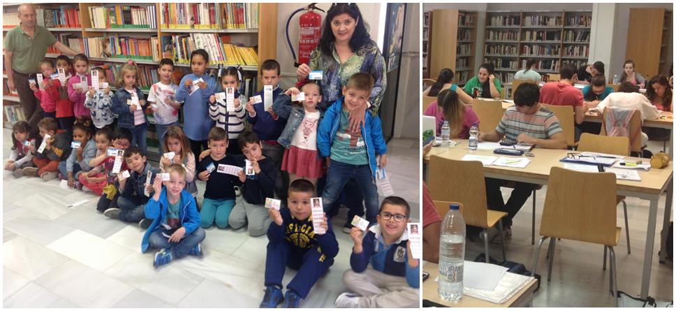 La Biblioteca Municipal de Almuñécar entrega carnet a alumnos del CEIP La Santa Cruz
