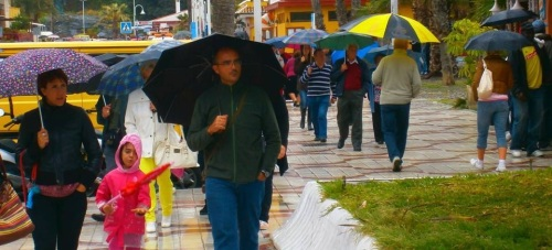 Lluvia en Almuñécar