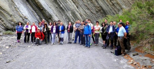 Senderistas sexitanos participaron en una ruta por el desierto de Tabernas