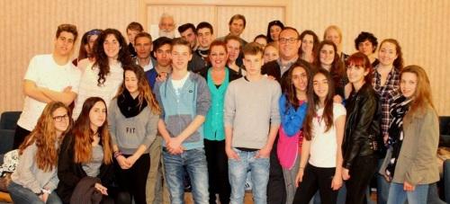 Un grupo de estudiantes alemanes de intercambio visitan la Villa
