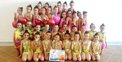 Éxito de la Escuela de Gimnasia Rítmica de Almuñécar en el Circuito Provincial