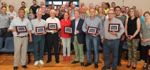 El Ayto. de Salobreña rinde homenaje a seis trabajadores jubilados