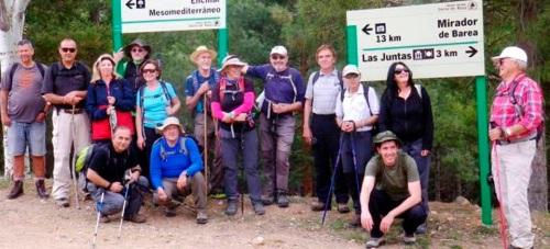 Senderistas sexitanos visitaron la Sierra de Baza y recorrieron la ruta entre las Juntas de Gor y Charches