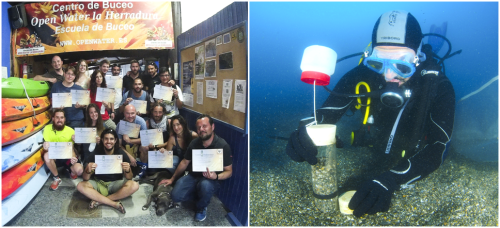 Didáctico y práctico, concluyó este fin de semana el curso 'Buceador científico' de la UGR