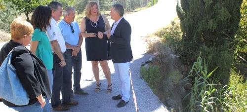 El Ayto. de Motril pide a Diputación el arreglo de la carretera de Los Tablones