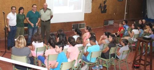 Escolares de la Villa participan en el programa de prevención de los incendios forestales de la Junta