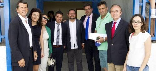 José Luis Morales y José Antonio Salguero visitaron la escuela sociodeportiva de la Fundación Real Madrid en Motril