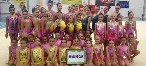 La Escuela de Gimnasia Rítmica de Almuñécar sumó nuevos triunfos en Cártama