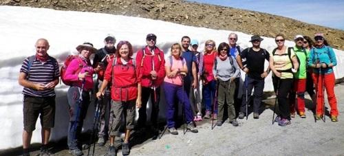 La subida al Veleta puso el broche a la temporada de senderismo el grupo del PMD Almuñécar