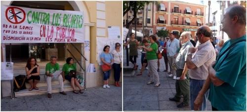 Las AMPAS de San Miguel, IES Puerta del Mar y Al-Andalus se movilizaron en defensa de la enseñanza pública