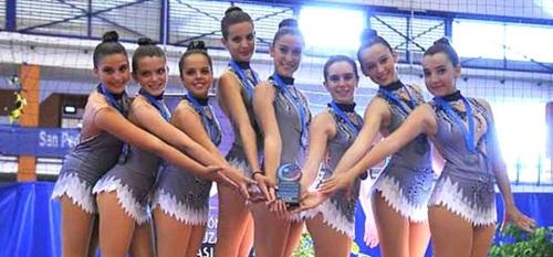 Las Junior de la gimnasia sexitana plata en el 'Andaluz de San Pedro de Alcántara'