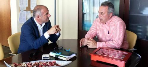 Sergio García realiza un seguimiento de las obras ejecutadas en Popolos – La Mamola con cargo al Canon de Mejora
