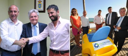 CAJAGRANADA y Mancomunidad favorecen la accesibilidad en la playa de Torrenueva