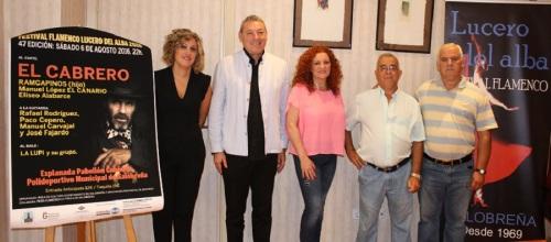 El Cabreo encabeza el cartel del XLVII Festival Flamenco 'Lucero del Alba'