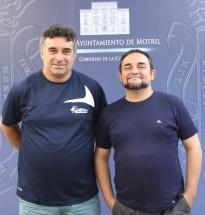 El concejal de Deportes, Miguel Ángel Muñoz, junto al director de área, Emilio García