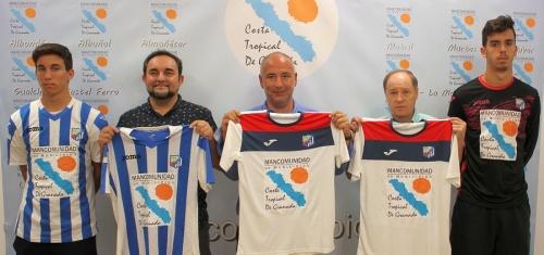 La camiseta del CF Motril lucirá el logo de la Mancomunidad