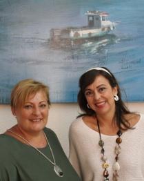Las tenientes de alcalde Alicia Crespo y Susana Feixas