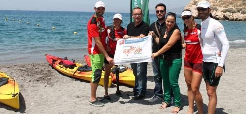 Los cuatro deportistas de 'Andalucía 7 Desafíos' llegan a Salobreña