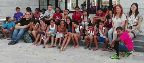 Salobreña recibe a los niños saharauis acogidos por familias de la costa
