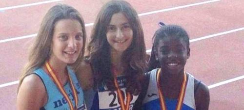 Una Stancev, categoría cadete, plata en el Campeonato de España de Atletismo