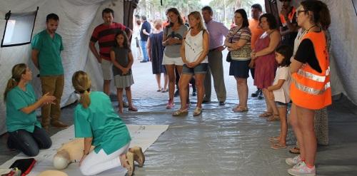 Casi 200 personas participaron en el 'Taller Salvavidas' sobre reanimación cardiopulmonar