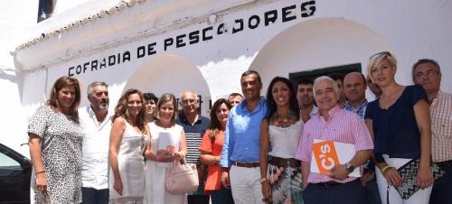 José A. Funes, parlamentario andaluz de Ciudadanos, visita Motril