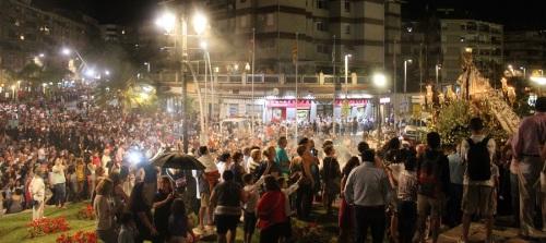 La procesión de la Virgen de la Cabeza llena las calles de Motril en el día Grande de las Fiestas