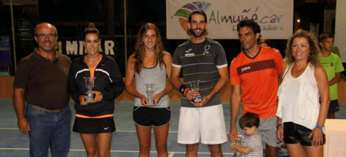 Quino Muñoz y Nuria Párrizas ganan el 'Open de Tenis a la Amistad'