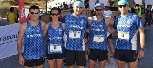 los-atletas-cristina-fernandez-arrojo-y-david-jimenez-suben-al-podio-en-moclin