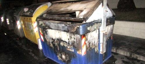 detenida-la-persona-presuntamente-responsable-de-la-quema-de-11-contenedores-durante-la-noche-del-lunes