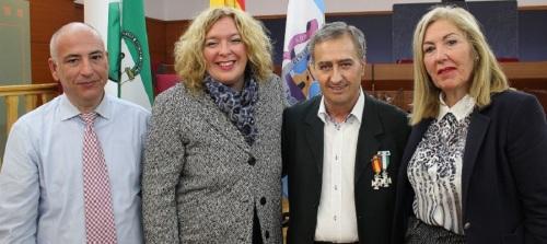 Francisco Ruiz (segundo dcha) con la alcaldesa de Motril, la Tte alcalde de Seguridad Ciudadana y el presidente de Mancomunidad