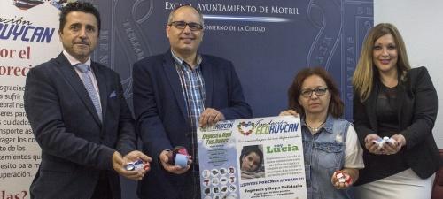 Campaña de recogida de tapones para la niña motrileña Lucía Díaz Folgoso