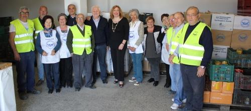 La alcaldesa visita las instalaciones del Banco de Alimentos tras las reformas realizadas en sus locales