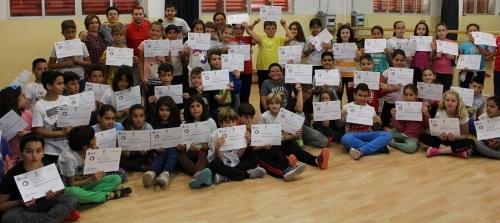 Niños y niñas del CEIP Príncipe Felipe reciben el diploma en Mediación para la Convivencia