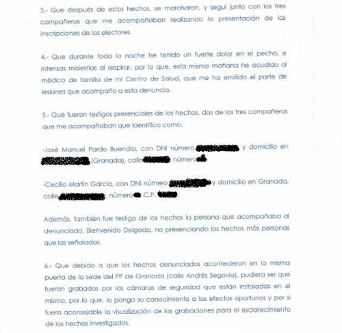 Parte Guardia Civil agresión José Torrente_