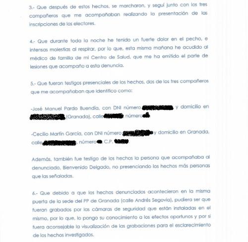 Parte Guardia Civil agresión José Torrente_