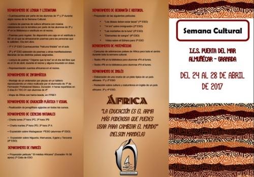 Semana Cultural dedicada a África 1