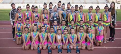 Siete podios para la Gimnasia Rítmica de Almuñécar en Roquetas del Mar