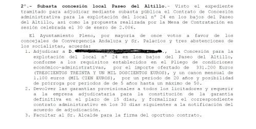 Acta pleno 11 04 2006 subasta concesion local Altillo_