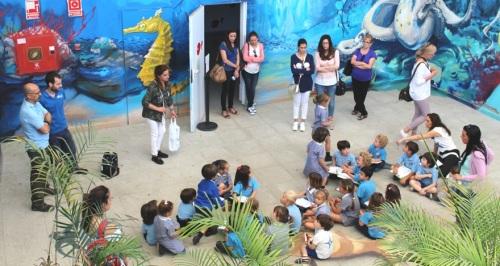 Alumnos del Colegio International School visitan el acuario sexitano