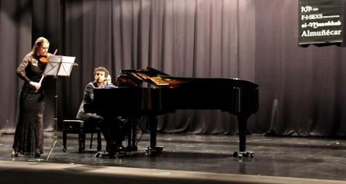 Bello concierto de violín y piano de Rolanda Ginkute y Ricardo Ali Álvarez
