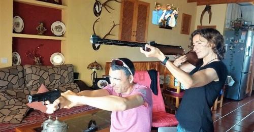 Fran y Cris, Sr. y Sra. Smith en el Trail Villa de Montefrío