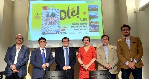 Granada y Jaén buscan turistas en Milán aprovechando la nueva conexión aérea