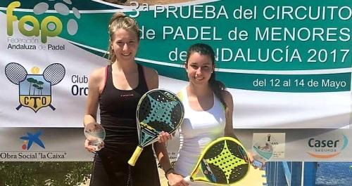 Helga García y Cristina Torrecillas SUBCAMPEONAS de la 3ª Prueba de Circuito de Pádel de menores de Andalucía