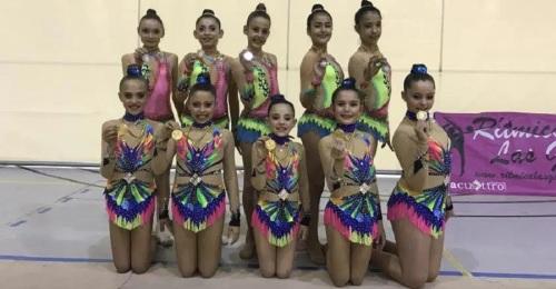 Las gimnastas sexitanas sumaron 15 podios en el Circuito Provincial